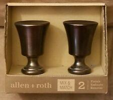 ALLEN & ROTH BRONZE CURTAIN ROD FINIALS SET 0773159