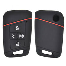 Silicone Key Case Cover For VW Tiguan Passat Golf Alltrack Fob Remote 4 Button