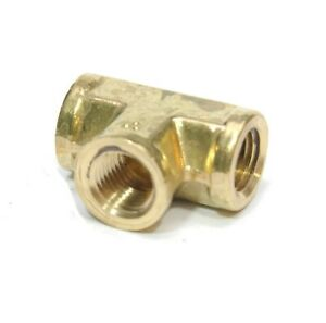 1/4 Npt Female Pipe T Tee 3 Way Brass Fitting Fuel Vacuum Air Water Oil Gas