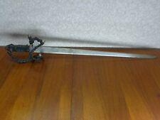 "Vintage Toledo Spain Sword Rapier Saber 40"" long Blade 34"""
