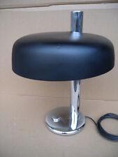 60er XXL Hillebrand Chrom Mid Century Modern Schreibtisch Lampe Leuchte 70er