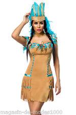Indianer Kostüm  Halloween Fasching Karneval Gr.34-36-38