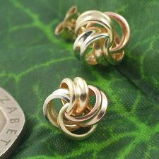 Sassi KS442MC Ladies 375 9ct Yellow, Rose & White Gold Knot Stud Earrings