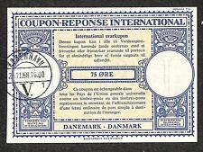 IRC INTERNATIONAL REPLY COUPON DENMARK 75 ORE TYPE B7 1956 **