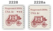 2228 2228a Stagecoach B Press 4c Tagging Variety 2 Transportation MNH - Buy Now