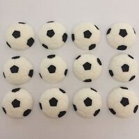 12 EDIBLE SUGARPASTE FOOTBALLS CUPCAKE /CAKE TOPPERS