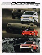 1992 Dodge Brochure :DAYTONA,DYNASTY,SHADOW,SPIRIT,CARAVAN,RAM 150 Truck,DAKOTA,