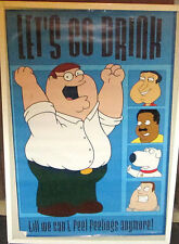 FAMILY GUY POSTER OOP  2004 RARE NEW SEALED LETS GO DRINK
