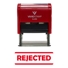 Rejected Self-Inking Office Rubber Stamp
