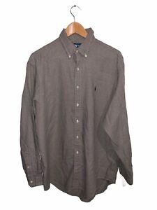 Ralph Lauren Yarmouth Cotton Mens XL Button Up Long Sleeve Shirt