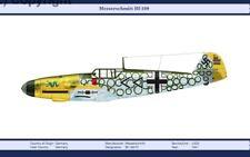 W.W.2 MILITARY AIRPLANE GERMAN MESSERSCHMITT Bf-109 F2 1941 PRINT A3 SIZE