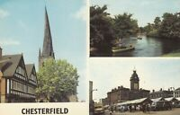 Postcard - Chesterfield - 3 Views - (PLC16748)