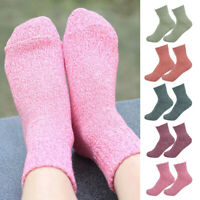 5 Pairs Casual Women Wool Cashmere Thick Winter Sports Socks Warm Soft Solid NEW