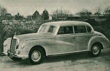 Publicité ancienne voiture Mercédès 300 1951 issue de magazine