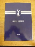 12/09/2009 Tottenham Hotpsur v Manchester United - Official Four Page Glossy Men