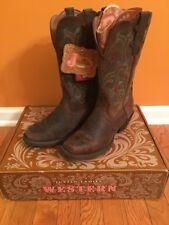 Justin Western Cowboy Boots Leather Stampede Sorrel Apache L2552 Size 8 B