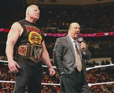 Brock Lesnar Paul Heyman Champion 8x10 Photo WWE in ring