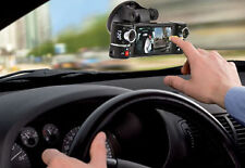 "Dash Cam 2.7"" TFT LCD Dual Camera Rotated Lens Car DVR w/ IR Night Vision - NEW"