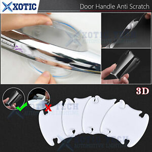 4x/set 3D Door Handle Film Stickers Protector Anti Scratch Protect Accessories
