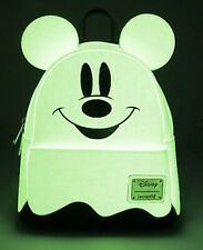 👻 Disney's Mickey Mouse Boo Glow in the Dark Ghost Backpack Loungefly - NEW  👻