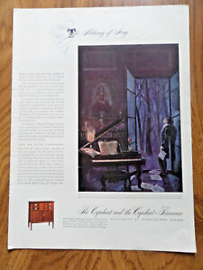 1942 Capehart Panamuse Ad Sheraton The Raindrop Prelude by Chopin by Lomotte