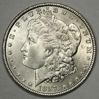 1887 MORGAN SILVER DOLLAR - VAM 3A SPIKE CHIN - BLAST WHITE GEM BU UNCIRCULATED!