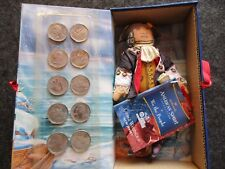 EARLY AMERICAN DOLL & 10 STATE QUARTERS, NEW JERSEY, GEORGE WASHINGTON OTT-03166