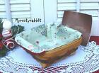 Longaberger 2008 Holiday Helper Basket Set - All The Trimmings & Prot Christmas