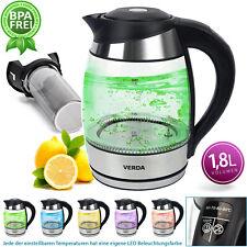 Wasserkocher Temperaturwahl LED Warmhaltefunktion Teeeinsatz 2200W SN0618L-4
