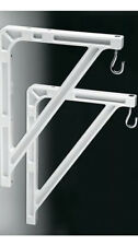 New Da-Lite 40957 - #11 Wall Hanging Brackets - Pair - White