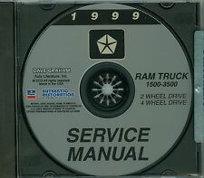 1999 DODGE TRUCK SHOP/BODY  MANUAL ON CD-COVERS 2 & 4  WHEEL DRIVE 1500-3500