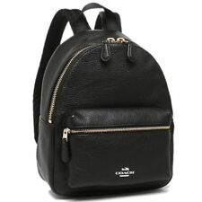 NWT Coach F38263/F28995 Mini Charlie Backpack Bag In Pebble Leather Black