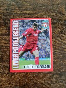 Very Rare Panini Liverpool 2008 Steven Gerrard Legend Sticker Mint