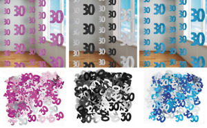 30th Birthday Party Decoration Hanging String Confetti Room Wall Metallic Banner