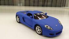 PORSCHE CARRERA GT mat bleu KINSMART jouet miniature 1/36 ECHELLE voiture