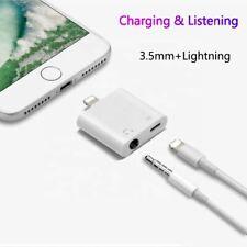 Dual Splitter For iPhone 6 SE 7 8 7+ 11 XR XS  Lightning Charging Adapter Audio