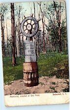 1909 Shipwreck Wheel Memorial Old Field Setauket Long Island Postcard B18