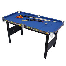 4Ft Game Table Set Billiards Snooker Pool Table for Kids Blue