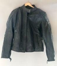 black Motorbike Rjays armoured Leather Jacket Ladies