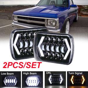 7X6 5x7 Inch LED Headlight Hi/Lo Beam For Chevy Express Cargo Van 1500 2500 3500