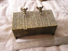 Vintage  Trinket Jewelry Box Well Made with Elephants