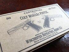 Cartridges box for COLT 1911 A1 PISTOL .45 Caliber Ammo box replica WWII M1911A1
