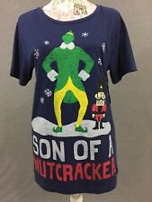 Elf Movie T-Shirt Son Of A Nutcracker Size Large Blue Christmas T-Shirt New