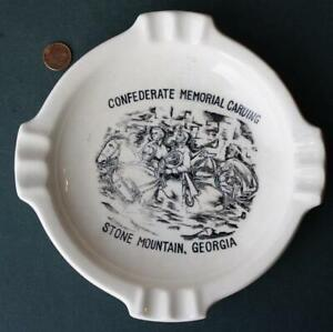 1960s Era Stone Mountain Georgia Civil War Mountain Carving Large Ashtray-COOL!*
