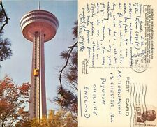 s13720 Niagara Skylon, New York, US postcard  1970 stamp *COMBINED SHIPPING*