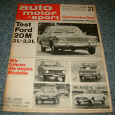 AMS 21/67 Glas 1304 TS, Ford 20 M TS P7a, Alfa Romeo Giulia, CanAm, F3