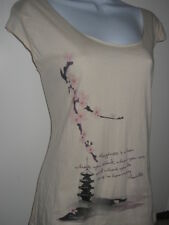 NEW American Apparel Organic Cherry Blossom Asian shirt