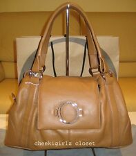 BNWT OROTON - Lacquer Leather Tote (tan) $695