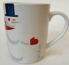 2012 Starbucks Coffee Mug Cup Snowman And Bunny Rabbit Winter Holiday 10 Ounce