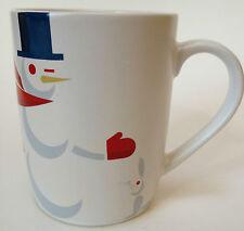 2012 Starbucks Coffee Mug Cup Snowman And Bunny Rabbit Winter Holiday 10 Ounce